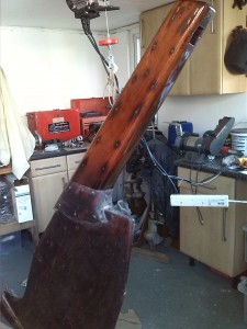 varnished rudder