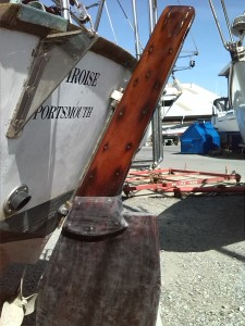 rudder fitted